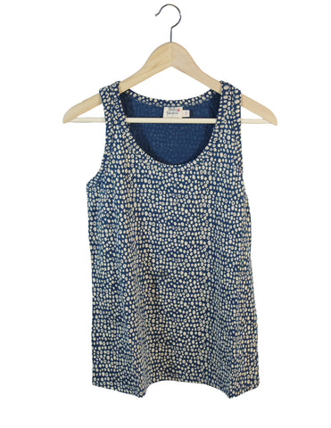 Fair Trade Blue Dot Tank / Ethical Fashion