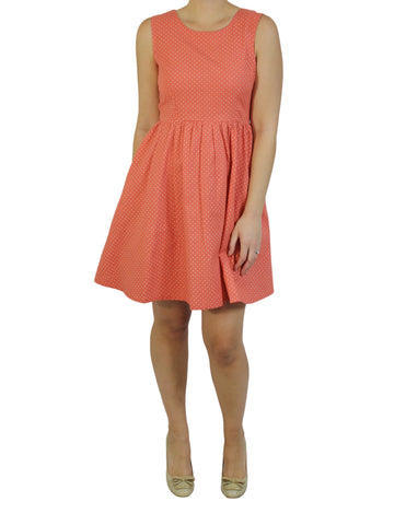 Fair Trade Coral Dot Dress