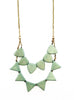 Mint Green Triangle Necklace / Fair Trade Jewelry