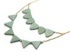 Mint Green Triangle Necklace (Side) / Fair Trade Jewelry