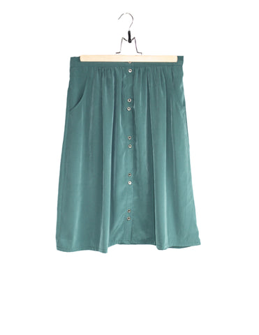 Green Moss Skirt with Pockets / Ethical Fashion