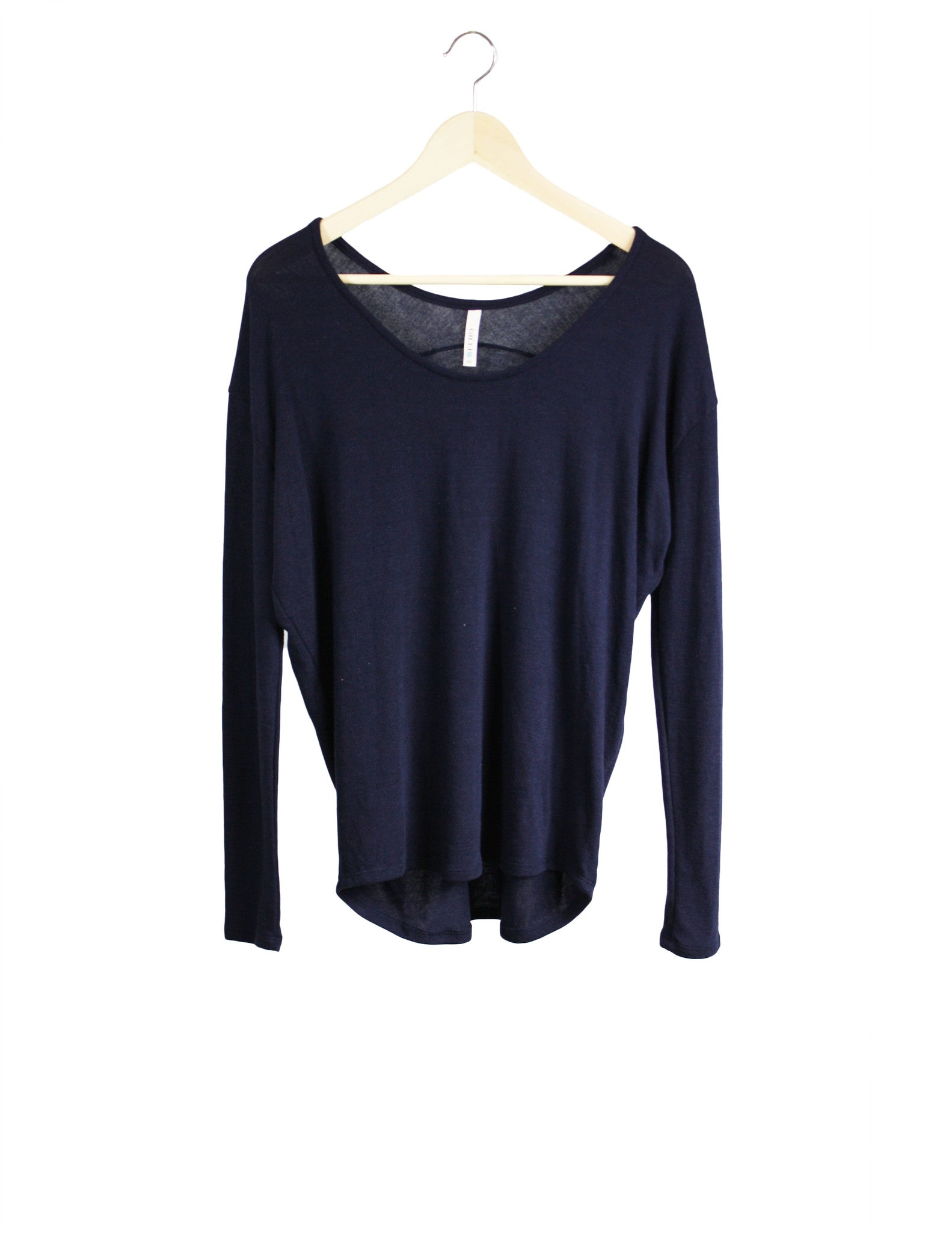 Navy Long-Sleeve Top / Ethical Fashion