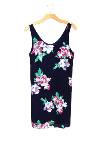 Navy Floral Dress | Made in America | Ethical Fashion