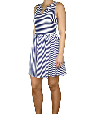 Nautical Stripe Dress (Front) / Ethical Fashion