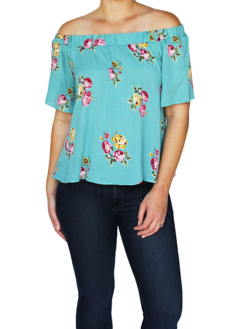 Floral Off-Shoulder Top | Made in America