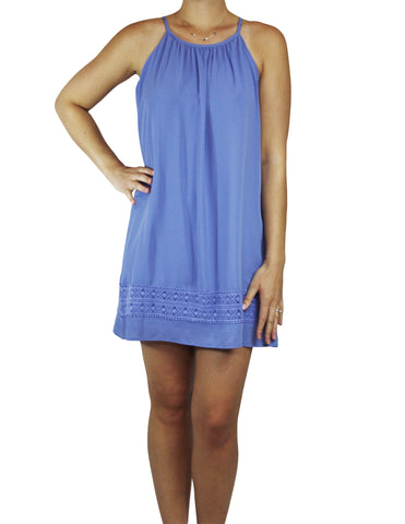 Porcelain Blue Shift Dress (Front) / Ethical Fashion