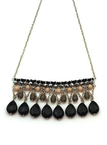 Black Gem Necklace / Handmade Ethical Fashion