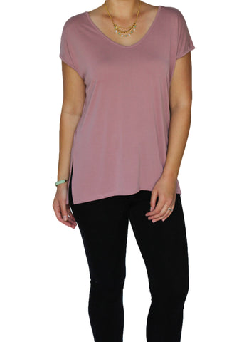 Dusty Rose Short Sleeve Top | Made in America