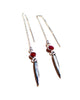 Ruby Spike Earrings