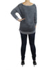 Rustic Grey Sweater (Back) / Ethical Fashion