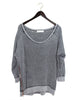 Rustic Grey Sweater with Side Zips / Ethical Fashion