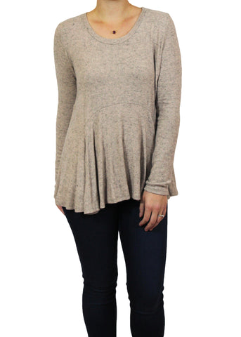 Sandy Peplum Long-Sleeve Top | Ethical Fashion | Made in America