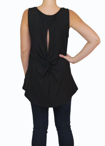 Black Knotted Top | Ethical Fashion | Made in America