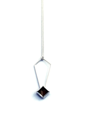 Smoky Quartz Gem Peak Necklace