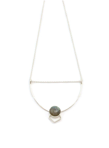 Labradorite Art Deco Necklace / Handmade Jewelry