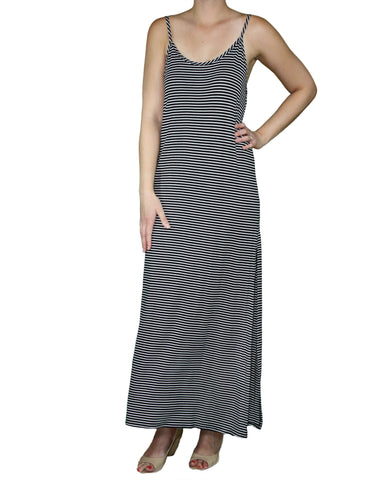 Stripe Maxi Dress Front