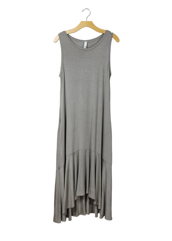 Taupe Ruffle Maxi | Made in America | Ethical Fashion