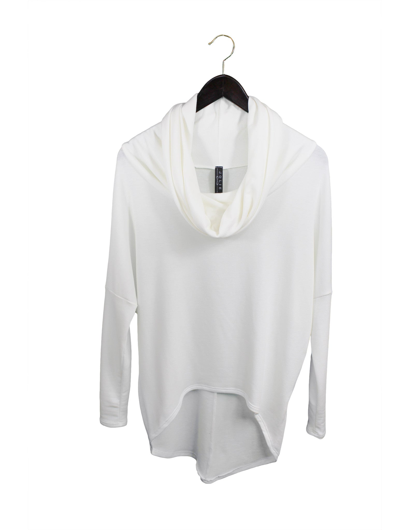 Softest White Cowl-Neck Tunic (L)