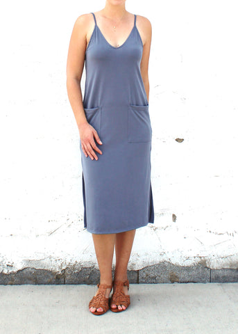 Blue Pocket Dress | Made in America