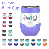 Swig Cups 9oz Stainless Steel Wine Glass with Lid Wine Great For Beer Too!