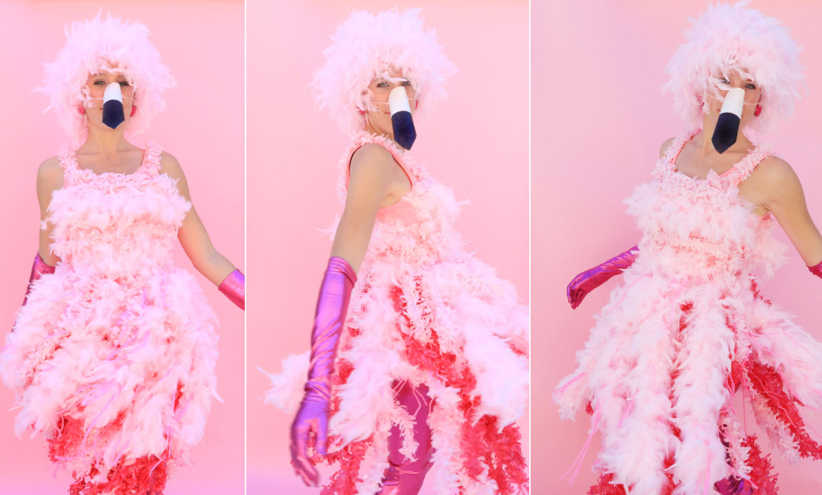 DIY Halloween Costume |  Flamingo!