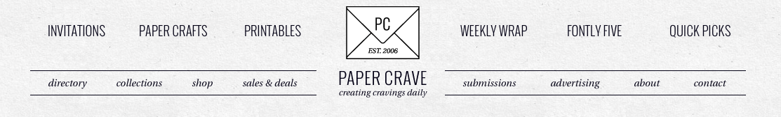 SPOTTED // Thimblepress on Paper Crave!