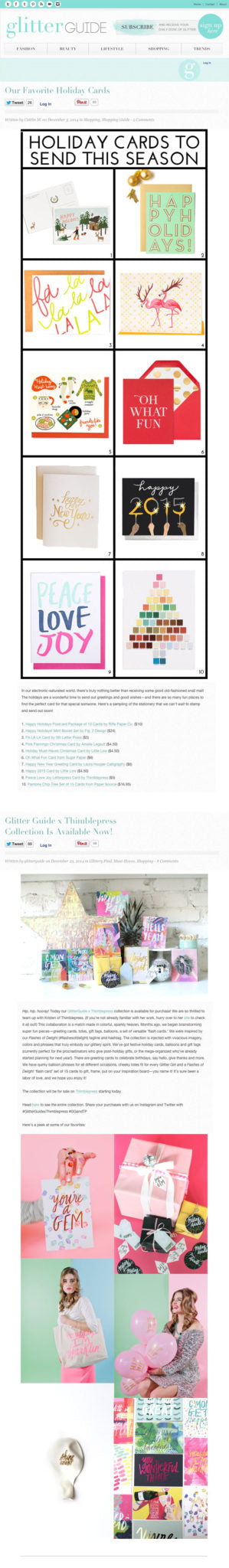 Glitter Guide | 2014 Features