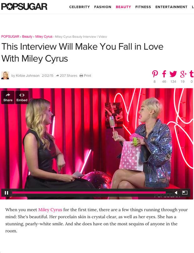 POPSUGAR + Miley Cyrus Video Feature | 2015