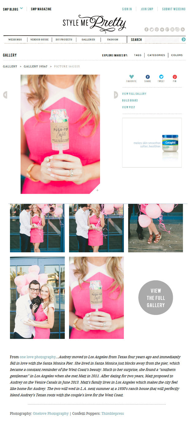 Style Me Pretty Engagement Feature | 2013