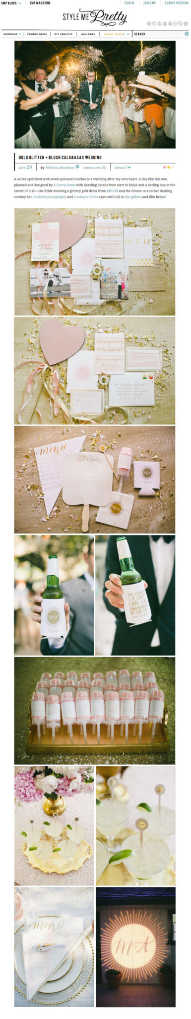 Style Me Pretty Wedding Feature | April 2015