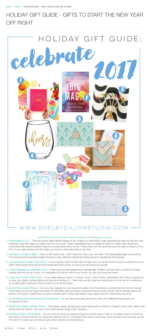 Shelby Dillion Studio | December 2016