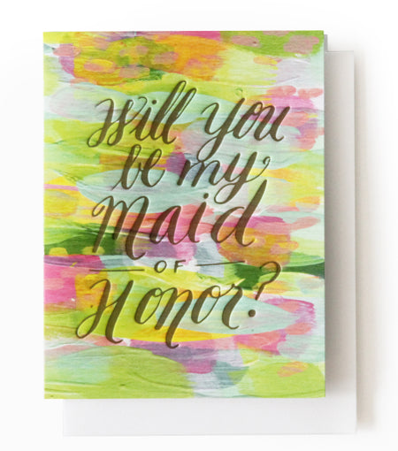 will you be my maid of honor? card 1