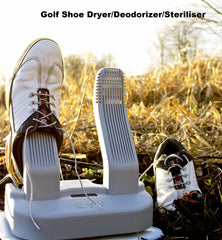 Shoe dryer in action golf shoes