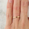1.5mm Square Wedding Band - 14k Gold