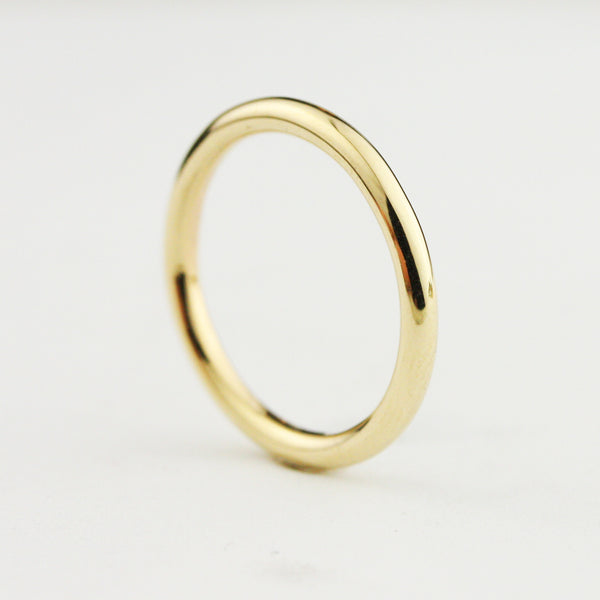 2mm Classic Full Round Wedding Band - 22k