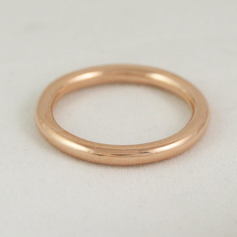 2.6mm Full Round Ring - 24k gold