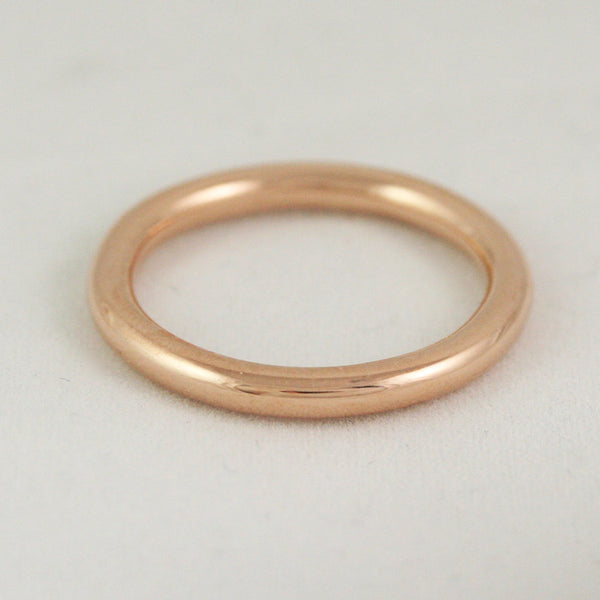 2.6mm Full Round Ring - 14k gold