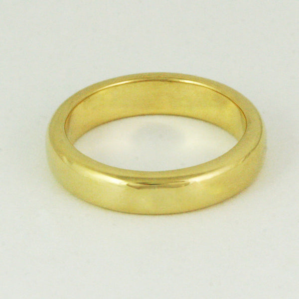 4.5mm x 2mm Half Round Wedding Ring - 24k Gold