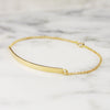 Personalized 18k Yellow Gold Bar Bracelet
