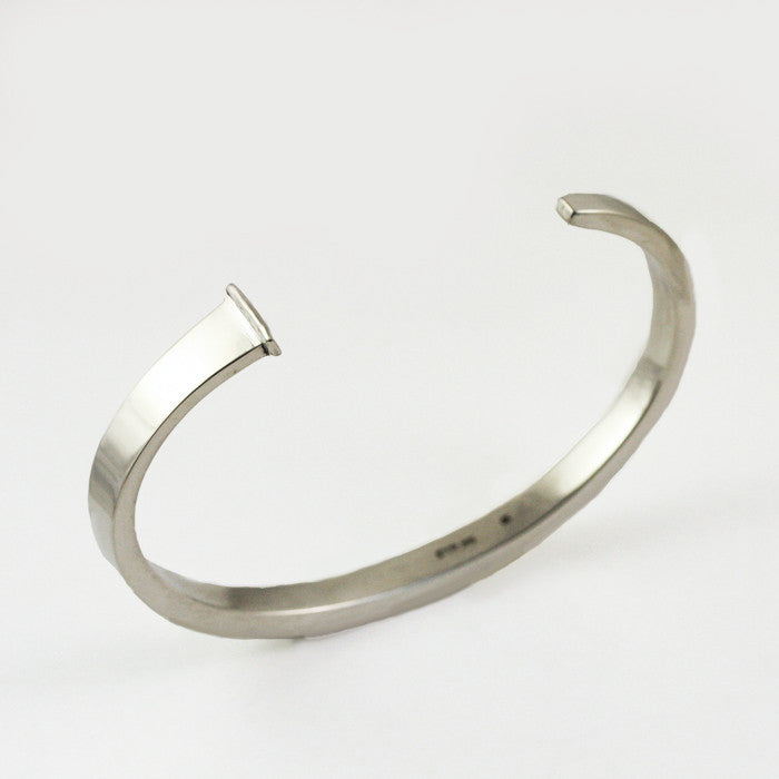 Mens / Unisex Heavy Personalized Sterling Silver Nail Bracelet