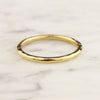 1.8mm Hammered Full Round Stacking Ring - 18k