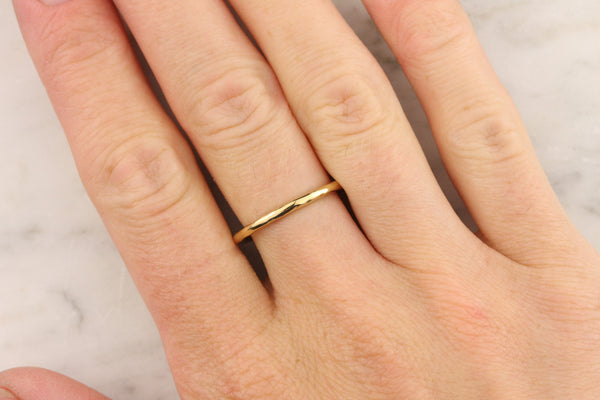 31a5269414223 1.8mm Hammered Full Round Stacking Ring - 22k