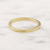 1.25mm High Rise Rectangle Wedding Band - 18k Gold