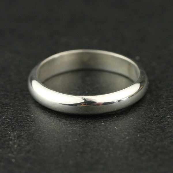 3mm Half Round Wedding Band - 14k