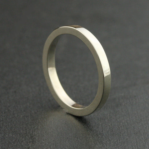2.5mm Heavy Flat Edge Wedding Band - 14k