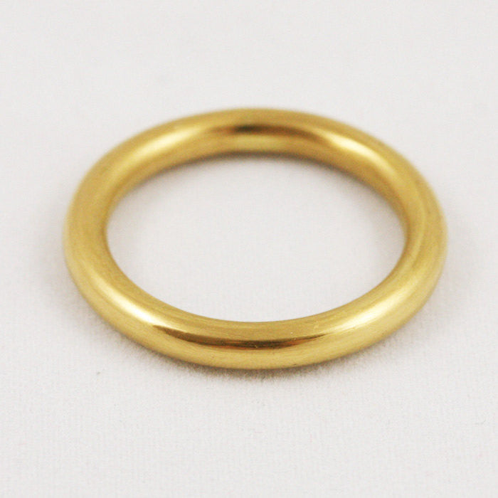 3mm Full Round Band Ring - 14k Gold
