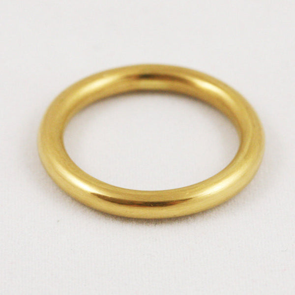 3mm Full Round Band Ring - 24k Gold