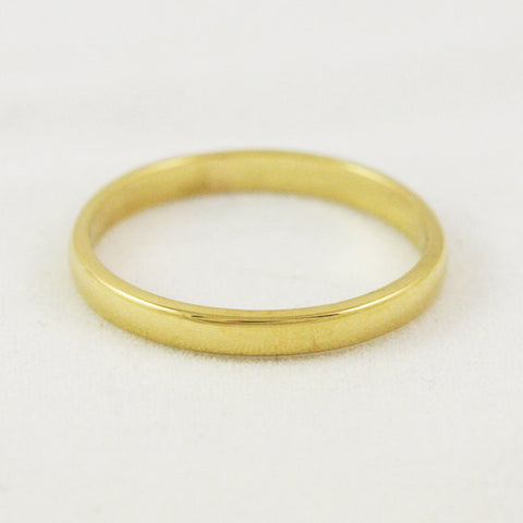 2.5mm Traditional Wedding Band - 24k Gold