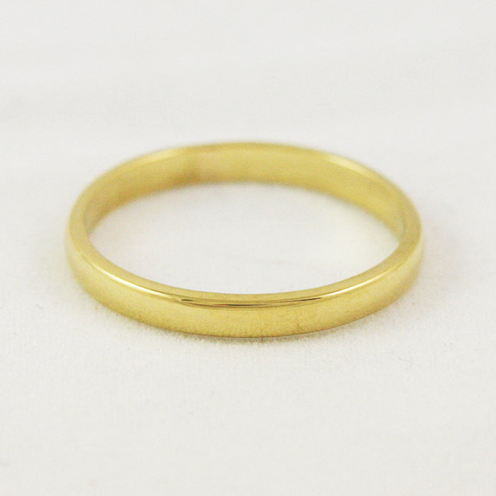 2.5mm Traditional Wedding Band - 18k Gold