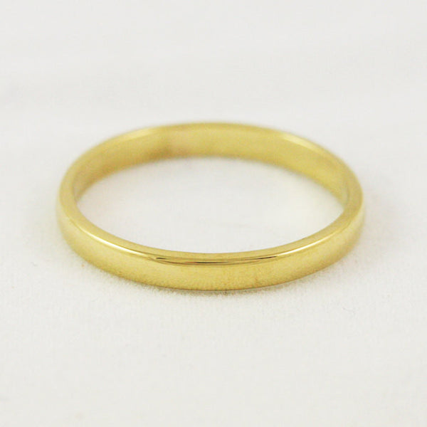 2.5mm Traditional Wedding Band - 22k Gold